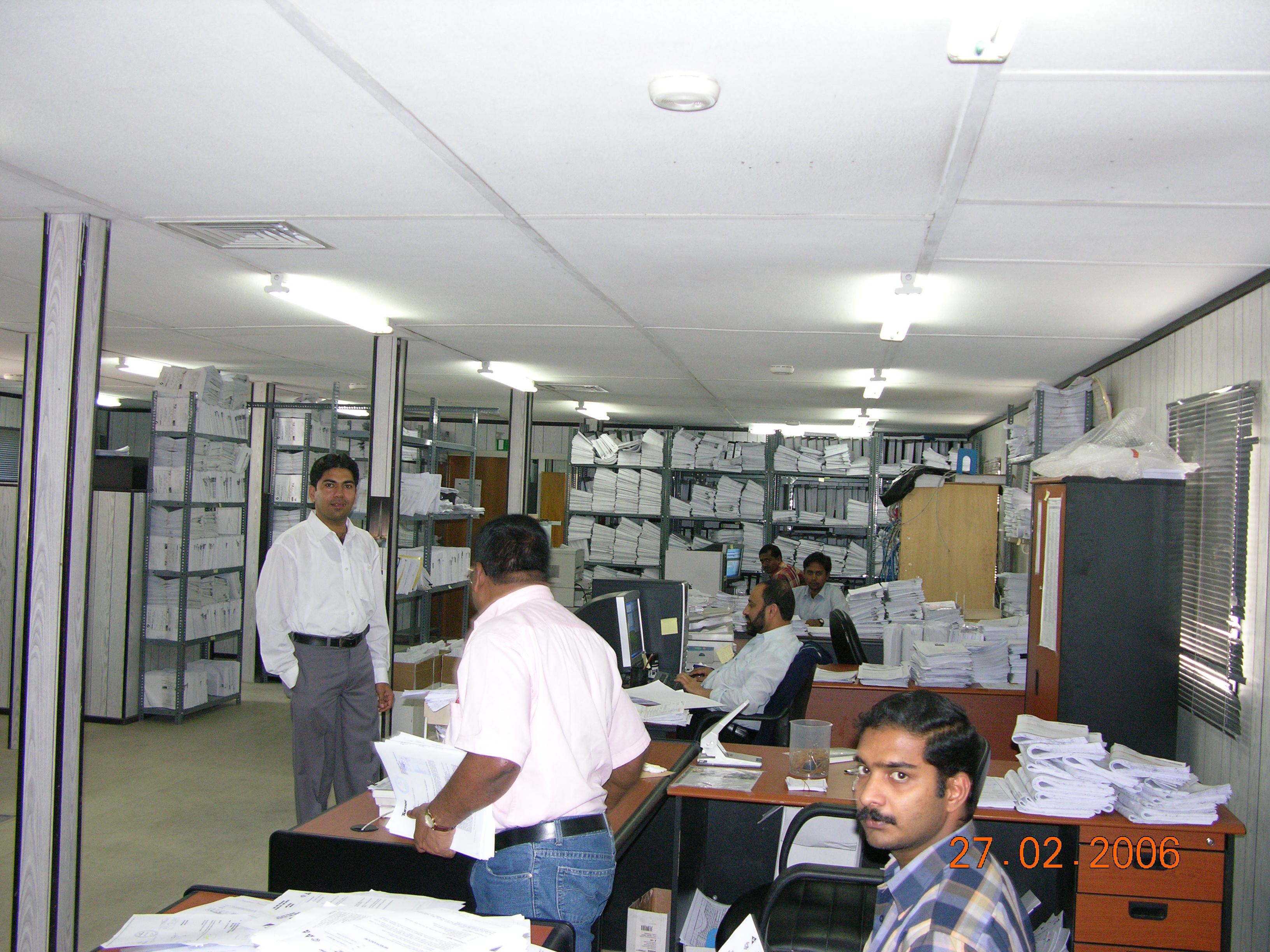 Dubai mall document control team in action