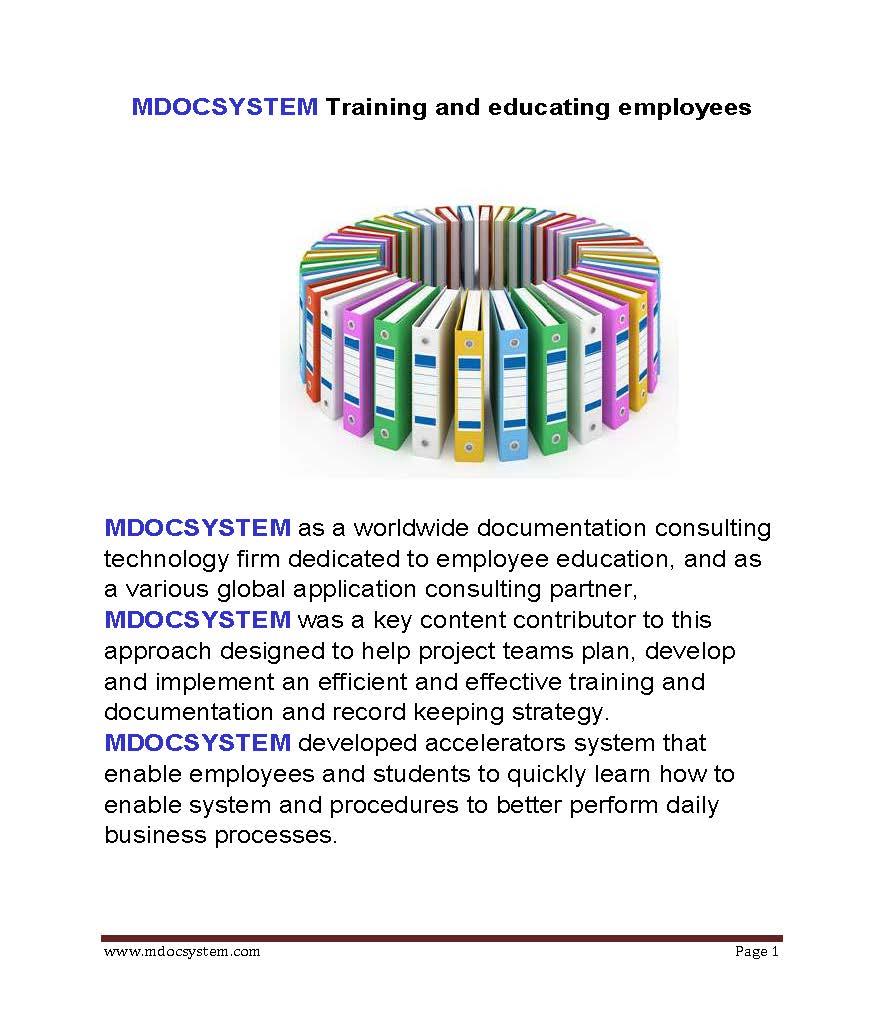 MDOC training and educating employees